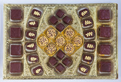Caramella del dessert della decorazione del cioccolato fotografie stock libere da diritti