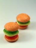 Caramella dell'hamburger immagine stock