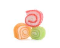Caramella della gelatina isolata su fondo bianco Fotografie Stock