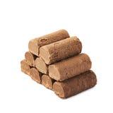 Caramella della pralina del cioccolato isolata fotografia stock libera da diritti