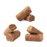 Caramella della pralina del cioccolato isolata immagini stock
