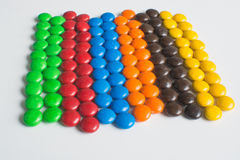 Caramella di cioccolato Colourful Immagini Stock