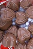 Caramella di cioccolato a forma di del cuore Fotografia Stock Libera da Diritti