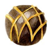 Caramella di cioccolato rotonda Fotografie Stock Libere da Diritti