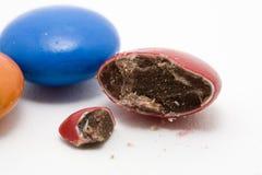 Caramella di cioccolato rotta fotografie stock libere da diritti