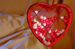 Caramella di giorno dei biglietti di S. Valentino Fotografia Stock Libera da Diritti