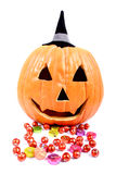 Caramella di Halloween Fotografie Stock