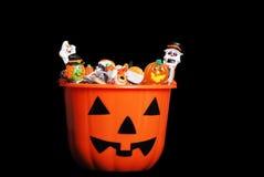 Caramella di Halloween in zucca Immagini Stock