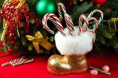 Caramella di Natale Fotografie Stock Libere da Diritti