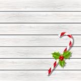 Caramella di Natale su legno illustrazione vettoriale