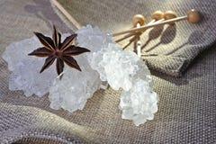 Caramella di zucchero della roccia Fotografia Stock