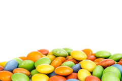 Caramella dolce di colore su fondo bianco Fotografie Stock
