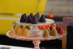 Caramella a forma di cono belga tradizionale con un a forma di naso immagini stock