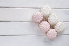 Caramella gommosa e molle bianca Immagini Stock