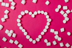 Caramella gommosa e molle bianca Innamorato Fotografia Stock