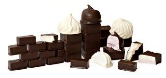 Caramella gommosa e molle in cioccolato Immagini Stock