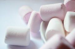 Caramella gommosa e molle rosa e bianca Immagini Stock Libere da Diritti