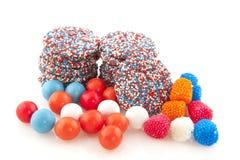Caramella olandese del chocolat ed altri dolci fotografia stock