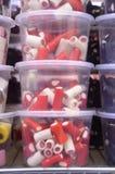 Caramella rossa della liquirizia Fotografia Stock