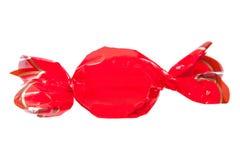 Caramella rossa isolata Fotografie Stock Libere da Diritti