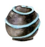 Caramella rotonda dell'acquerello Fotografia Stock