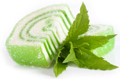 Caramella saporita della gelatina con la menta Immagine Stock Libera da Diritti