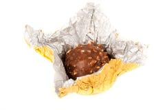 Caramella squisita in stagnola dorata Immagini Stock Libere da Diritti