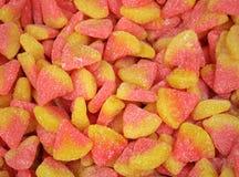 Caramella sugosa di colore giallo e di colore rosa Fotografia Stock Libera da Diritti