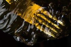 Caramella sul nero Fotografie Stock Libere da Diritti