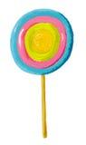 Caramella variopinta del Lollipop Fotografia Stock