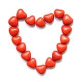 Caramella variopinta di forma del cuore Fotografia Stock Libera da Diritti
