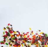 Caramella variopinta mista saporita della gelatina dei dolci fotografie stock