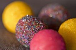 Caramelle Colourful della palla dello zucchero Fotografia Stock