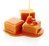 Caramelle del caramello e salsa del caramello Immagini Stock Libere da Diritti