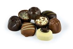 Caramelle del cioccolato zuccherato Fotografie Stock
