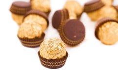 Caramelle del cioccolato zuccherato Fotografia Stock