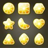 Caramelle del limone per il gioco della partita tre Immagini Stock