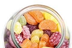 Caramelle della frutta in un vetro Fotografia Stock
