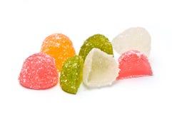 Caramelle della gelatina accatastate e divise in due Fotografia Stock Libera da Diritti