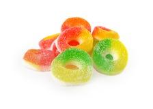 Caramelle della gelatina con zucchero Fotografia Stock Libera da Diritti