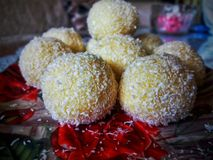 Caramelle della noce di cocco fotografia stock