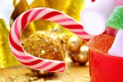 Caramelle di Christmass Fotografia Stock