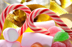 Caramelle di Christmass Immagine Stock