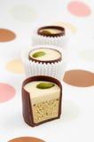 Caramelle di cioccolato con il riempimento fotografia stock