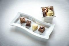 Caramelle di cioccolato delle forme differenti Fotografia Stock Libera da Diritti