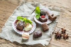 Caramelle di cioccolato di lusso Fotografia Stock