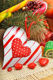 Caramelle di cioccolato a forma di dell'innamorato di amore Fotografia Stock