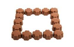 Caramelle di cioccolato isolate Fotografie Stock Libere da Diritti