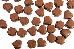 Caramelle di cioccolato isolate Fotografia Stock Libera da Diritti