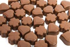 Caramelle di cioccolato isolate Fotografia Stock